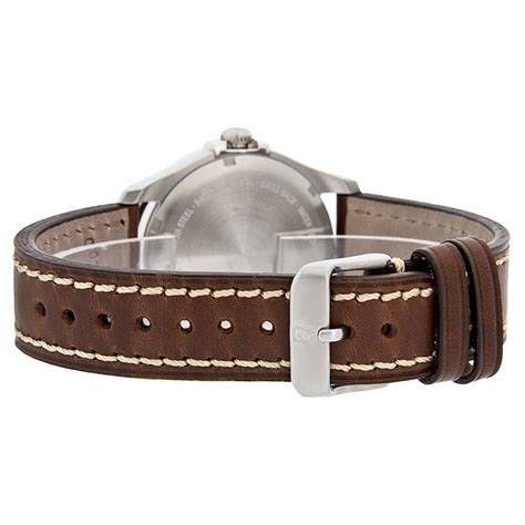 Swiss Army Original Silver Brown Leather victorinox swiss army infantry vintage mens brown leather
