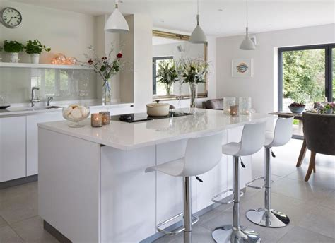 island units for kitchens white modern kitchen with island unit and hi gloss