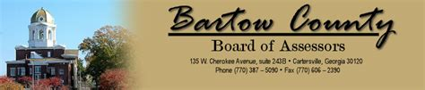Bartow County Property Tax Records Bartow County Tax Assessors