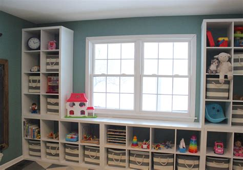 White Cubby Bookcase Ikea Kallax Playroom 12 Oaks