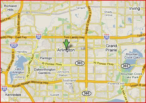 arlington texas map image texas map arlington tx