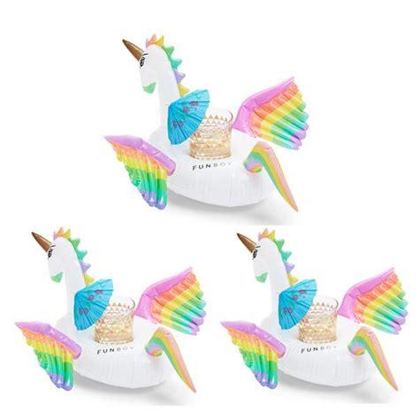 rainbow unicorn drink holder 3 pack funboy