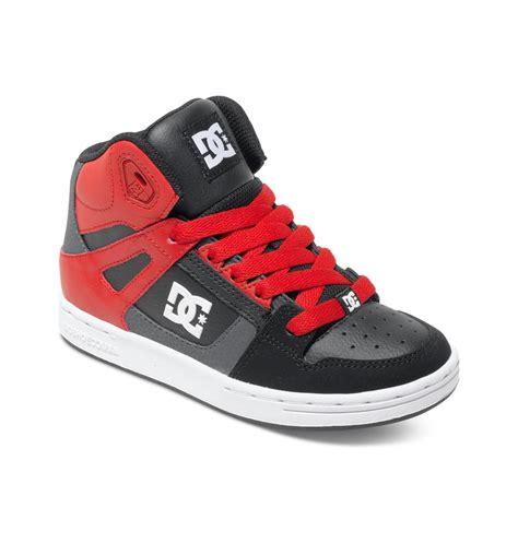 boys dc shoes dc shoes boy s 4 7 rebound high top shoes black ksr ebay