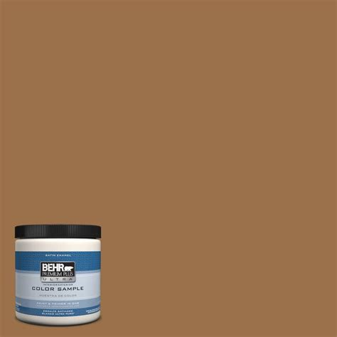 behr premium plus ultra 8 oz ul150 17 olympic bronze interior exterior paint sle ul150 17