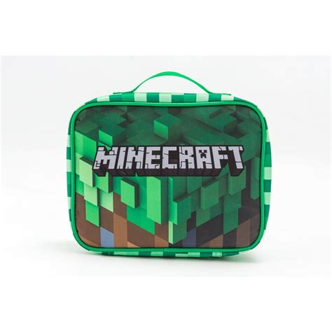 Lunch Box Kertas Size M minecraft glow in the blue luminated schoolbag