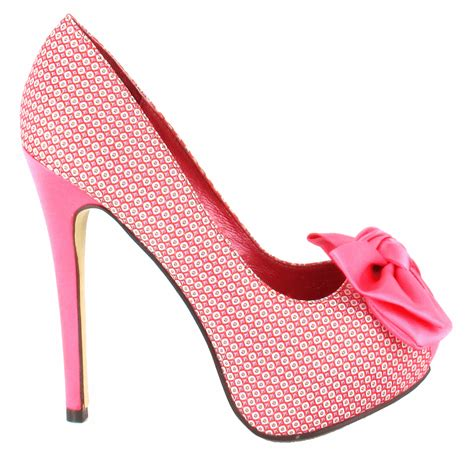 high heeled wedges pink high heels with bow is heel