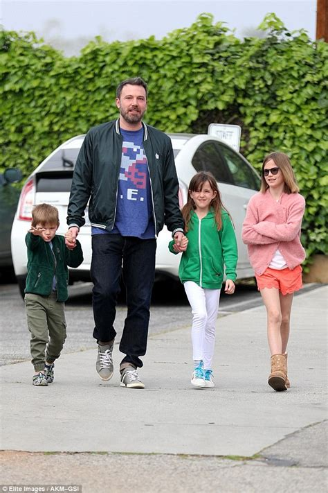 ben affleck smiles as he ben affleck smiles as he spends time with the daily