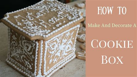 how to decorate series finding how to make and decorate a cookie box