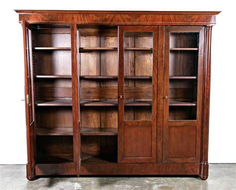 mahogany bookshelves for sale antique empire period mahogany bookcase for sale at