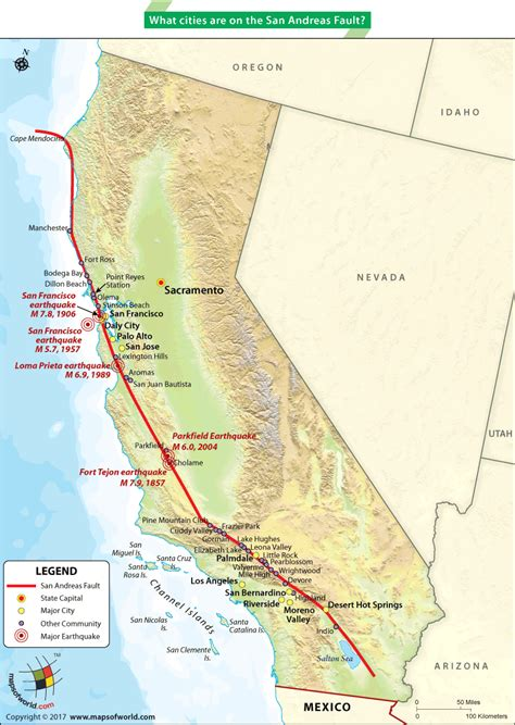 san andreas fault images san andreas fault earthquake map www pixshark