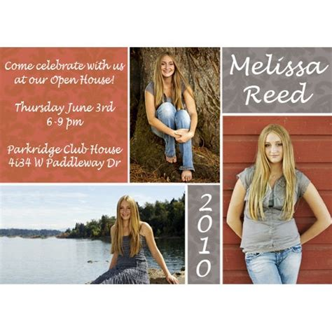 graduation open house ideas graduation announcement multiple photos graduation