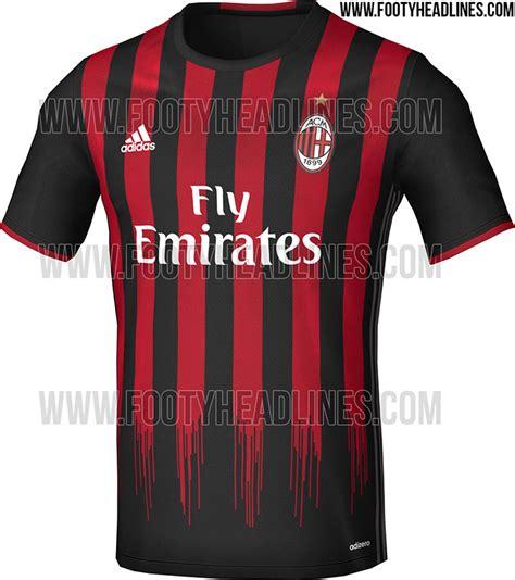 Ac Milan Away 1617 camiseta milan 2016 2017 botas de f 250 tbol
