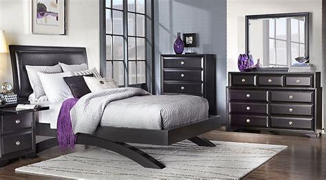 belcourt black  pc queen platform bedroom queen bedroom sets black