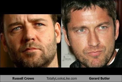 actor that looks like gerard butler russell crowe totally looks like gerard butler people