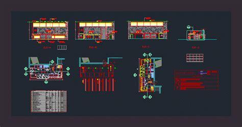 small coffee shop dwg plan  autocad designs cad
