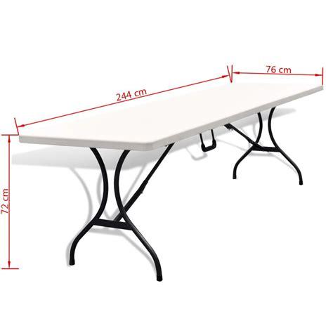 tavolo pieghevole da giardino tavolo pieghevole da giardino in hdpe 244 cm bianco