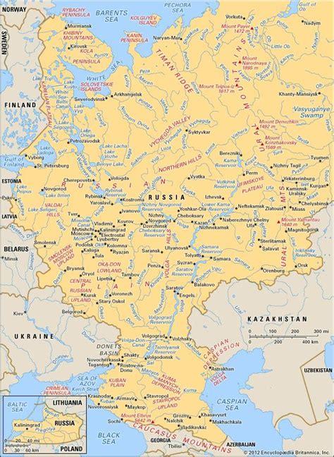 russia river map quiz russia britannica