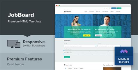 themeforest job board jobboard responsive job market html template by