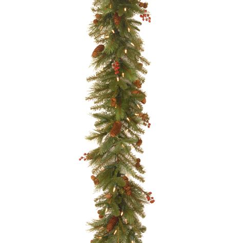 battery operated garland with white lights national tree company 6 ft noelle garland with battery