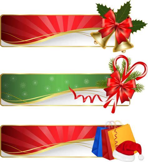 kata kunci natal elegan hadiah pita vektor bahan lonceng tas topi banner banner