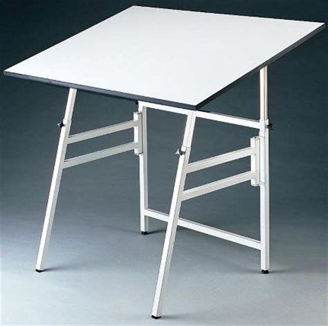 Folding Drafting Table Alvin Model X 4 Xb Professional Folding Drafting Table Small White Base 24in X 36in Top Angle