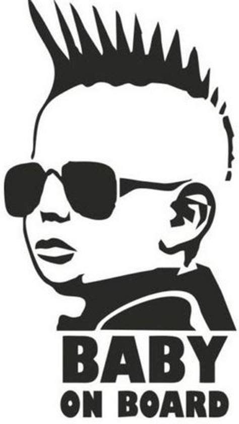 Stickers Voor Auto Baby Aan Boord by Bol Baby On Board Punk Rock Mohawk Autosticker