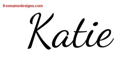 name katie tattoo designs lively script name designs free printout