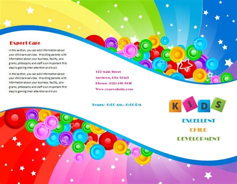child care brochure template 7 child care owner