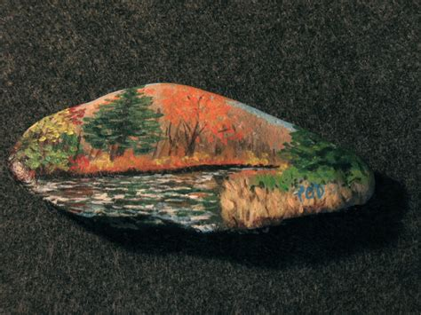 acrylic painting rocks painted rocks and collectibles acrylic landscape