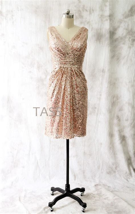 martini chagne rose short gold sequin bridesmaids dresses cocktail dress