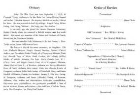 9 best images of sample obituary funeral program templates