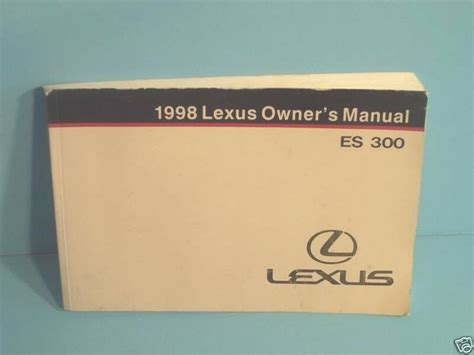 free service manuals online 1998 lexus gs parental controls 98 1998 lexus es300 owners manual ebay