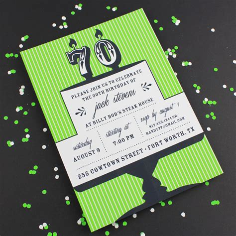 template for 70th birthday party invitation milestone candle birthday invitation template 70th
