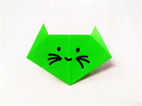 Folding Origami Paper Crafts - how to make an origami paper cat origami paper folding