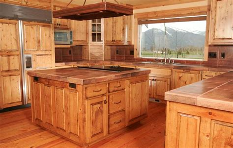 Pine Kitchen Cabinet Knotty Pine Kitchen Cabinets Custom Wood Doors Made In Montana By Specialty Woodworks Co