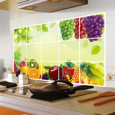 Tile Stickers For Kitchen by Kitchen Wall Sticker Decal Kitchenware Wall Tile Stickers