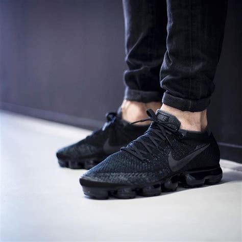 Cdg X Nike Vapormax Flyknit All Blacl nike air vapormax flyknit black kith