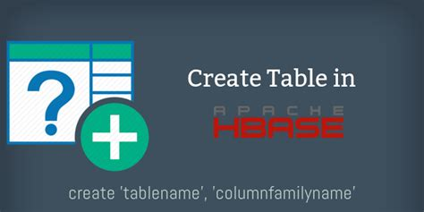hbase create table easy way to create a table in hbase