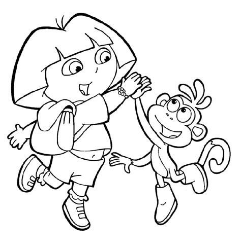 coloring pictures of dora the explorer characters dora the explorer coloring pages crafts and worksheets
