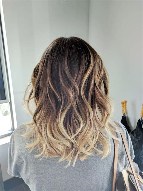 how long take for balayage ombre balayage color melt blonde highlights long bob