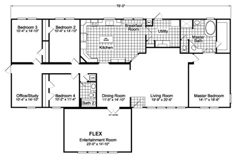 ponderosa floor plan the ponderosa flex scx476u7 home floor plan manufactured