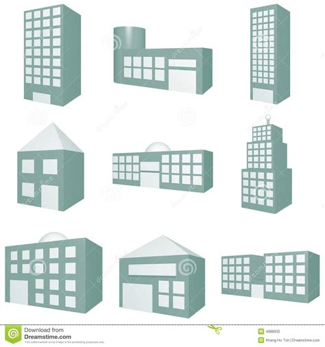 How To Build Gambrel Roof building icon set royalty free stock photo image 4988935