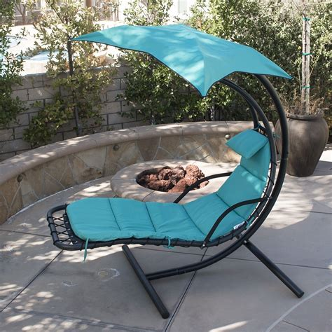 outdoor swing hammock with canopy hanging chaise lounger chair arc stand air porch swing