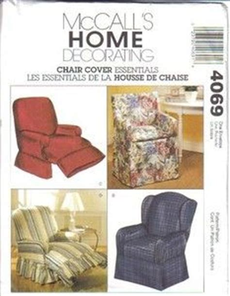 wing chair recliner slipcover pattern details about mccall s sewing pattern 4069 chair slip