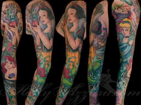 tattoo disney princess disney princess sleeve spread by azzara tattoonow