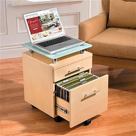 Rolling File Cart With Drawers by 2 Drawer Rolling File Cart With Glass Top