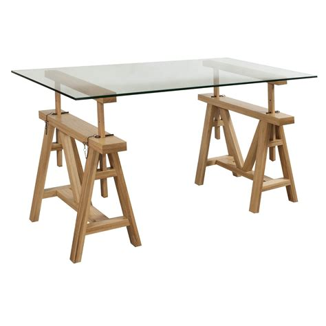 gosit 30 215 60 glass top desk white oak national office