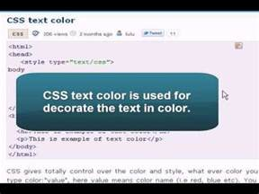 text color css css tutorial css text color