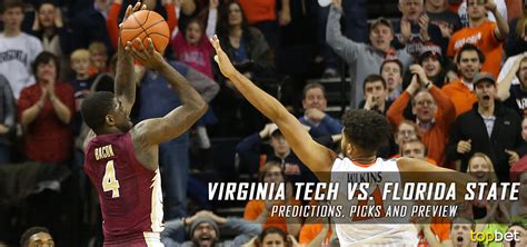 Tech Vs State Mba by Virginia Tech Vs Florida State Basketball Predictions
