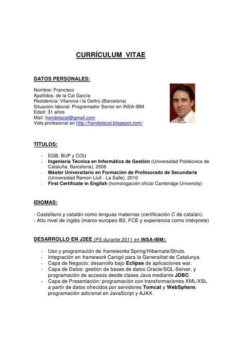 Modelo De Curriculum Vitae Y Sus Partes curriculum vitae que es y sus partes tipos de curriculum